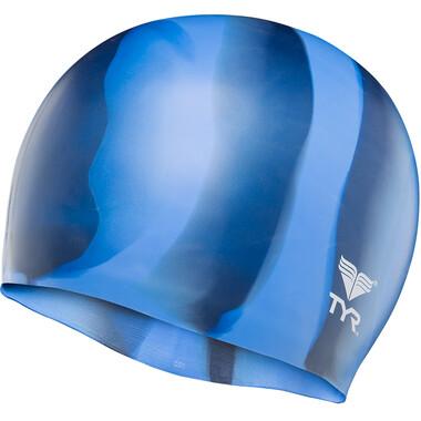 Bonnet de Bain TYR SILICONE Bleu Clair/Bleu Marine 2021